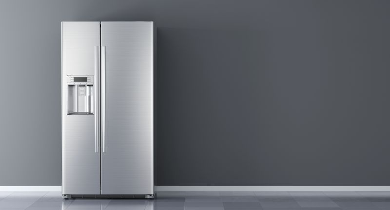 refrigerator, fridge, freezer, kitchen, appliance, white, stainless, front, steel, modern, closed, new, frig, background, capacitor, chrome, clean, cold, domestic, condenser, cooler, door, electric, equipment, electrical, food, home, fresh, ice, household, icebox, illustration, kitchen appliances, meatsafe, kitchen furniture, metal, nobody, object, refrigeratory, shiny, side by side, side, side-by-side, silver, 3d, rendering, wall, room, interior, refrigerator, fridge, freezer, kitchen, appliance, white, stainless, front, steel, modern, closed, new, frig, background, capacitor, chrome, clean, cold, domestic, condenser, cooler, door, electric, equipment, electrical, food, home, fresh, ice, household, icebox, illustration, kitchen appliances, meatsafe, kitchen furniture, metal, nobody, object, refrigeratory, shiny, side by side, side, side-by-side, silver, 3d, rendering, wall, room, interior