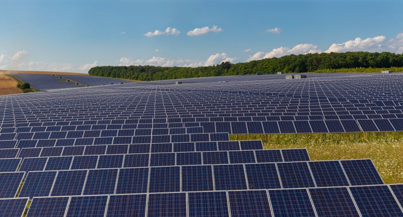 bavaria, blue cells, cell, ecological, ecology, energy, franconia, germany, green energy, new energies, panorama, panoramic, photovoltaic, power, power grid, power station, renewable energy, renewables, solar farm, solar landscape, solar panels, solar park, technology, thuengen, thüngen